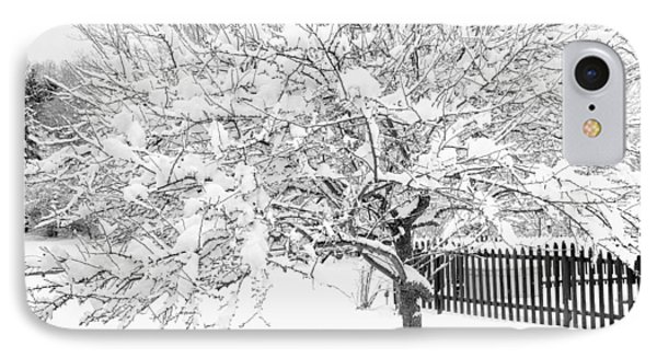 IPhone Case featuring the photograph Snowy Crab Apple by Don Nieman