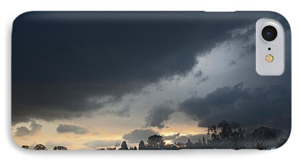 IPhone Case featuring the digital art Snowy Dawn by David Davies