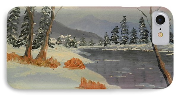 Snowy Day In Europe Phone Case by Pamela  Meredith