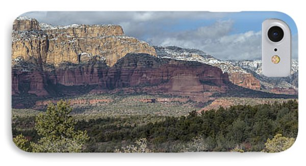 Snowy Day In Sedona IPhone Case by Sandra Bronstein