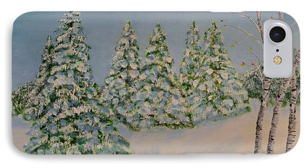 Snowy Day IPhone Case by Melvin Turner