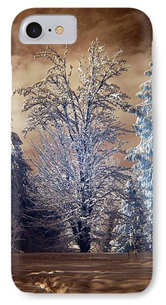 Snowy Day IPhone Case by Rebecca Parker