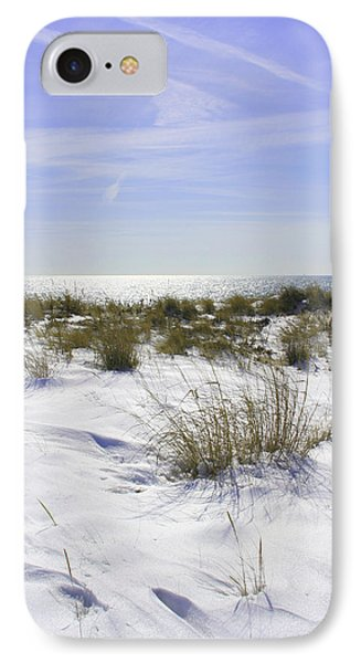 IPhone Case featuring the photograph Snowy Dunes by Karen Silvestri