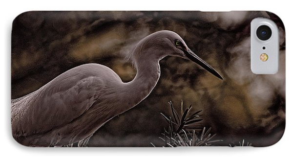 Snowy Egret 002 IPhone Case by Travis Burgess