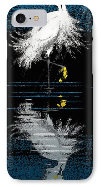 IPhone Case featuring the digital art Snowy Egret by Aaron Blaise