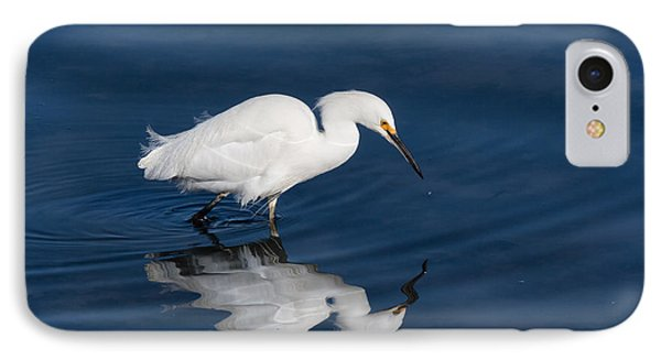 Snowy Egret In The Looking Glass IPhone Case