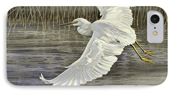 Snowy Egret Phone Case by Paul Krapf