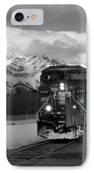 Snowy Engine Through The Rockies IPhone Case