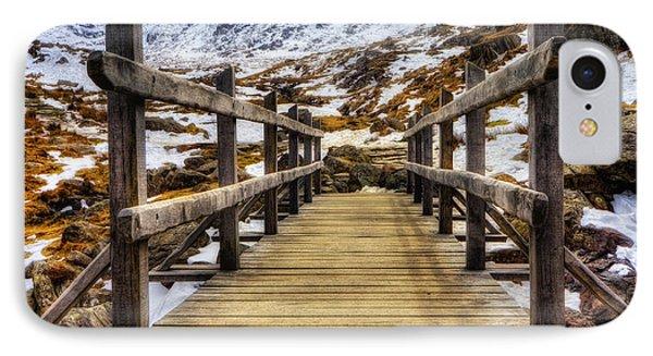 Snowy Footbridge Phone Case by Ian Mitchell
