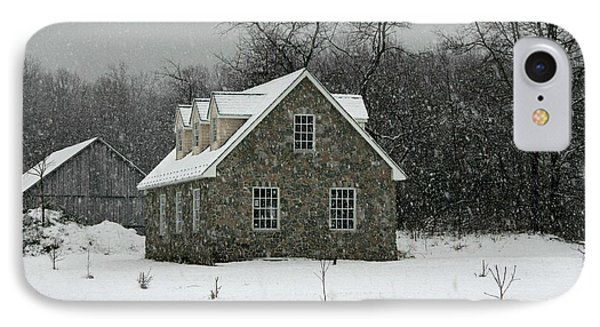 IPhone Case featuring the photograph Snowy Garage by Andy Lawless