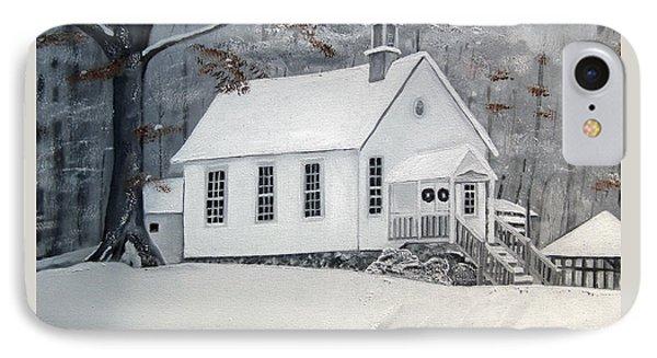 Snowy Gates Chapel  -little White Church - Ellijay IPhone Case by Jan Dappen