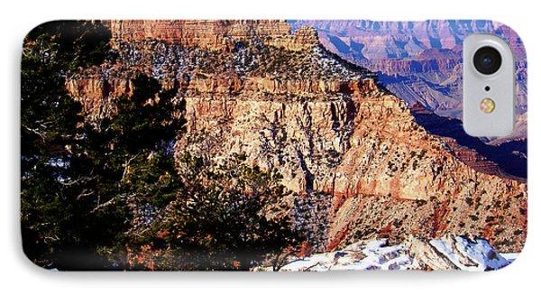 Snowy Grand Canyon Vista IPhone Case by Janice Sakry