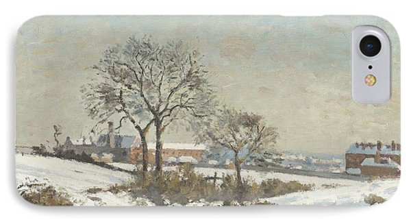 Snowy Landscape At South Norwood Phone Case by Camile Pissarro
