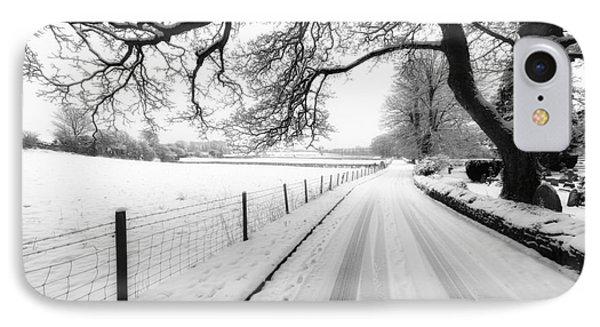 Snowy Lane Phone Case by Adrian Evans