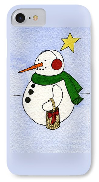 Snowy Man Phone Case by Norma Appleton
