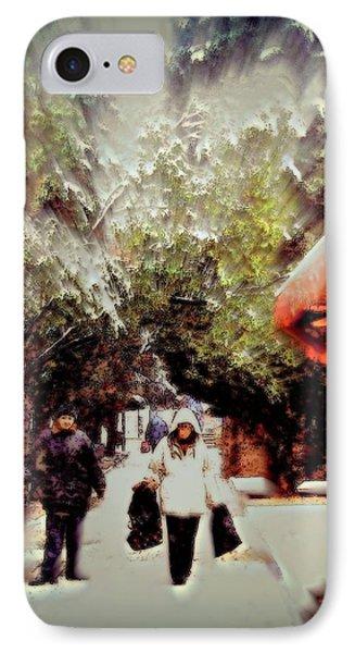 Snowy Market Day Crimea   Phone Case by Rick Todaro