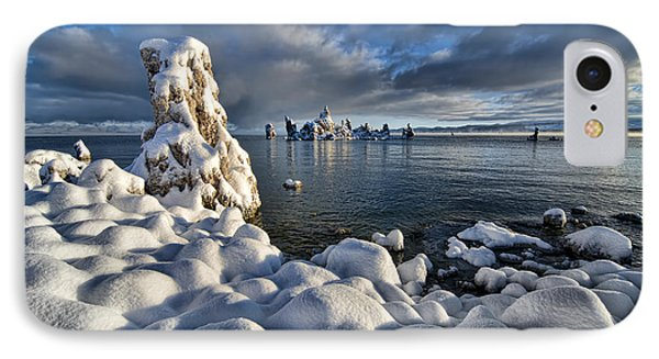 Snowy Mono Lake IPhone Case by Peter Dang