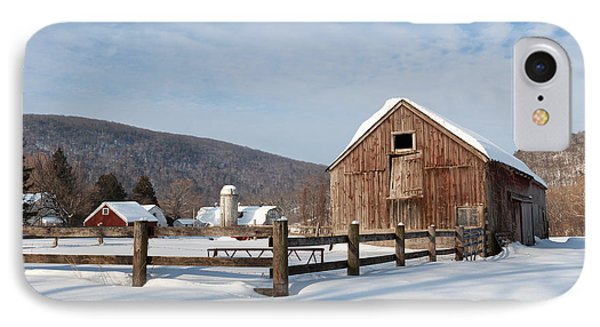 Snowy New England Barns Phone Case by Bill Wakeley