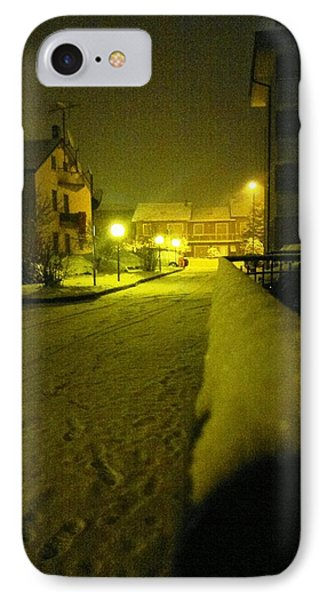 Snowy Night IPhone Case by Giuseppe Epifani
