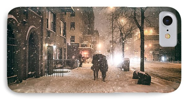 Snowy Night - Winter In New York City IPhone Case by Vivienne Gucwa