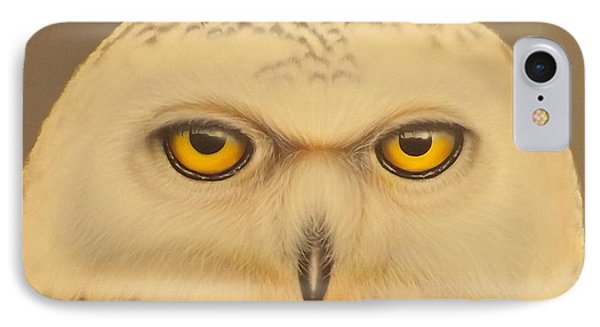 IPhone Case featuring the painting Snowy Owl by Darren Robinson