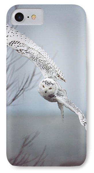 Snowy Owl In Flight IPhone 7 Case by Carrie Ann Grippo-Pike