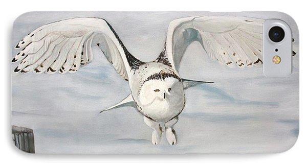 Snowy Owl IPhone Case by Jean Yves Crispo