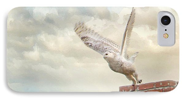 IPhone Case featuring the photograph Snowy Owl by Karen Lynch