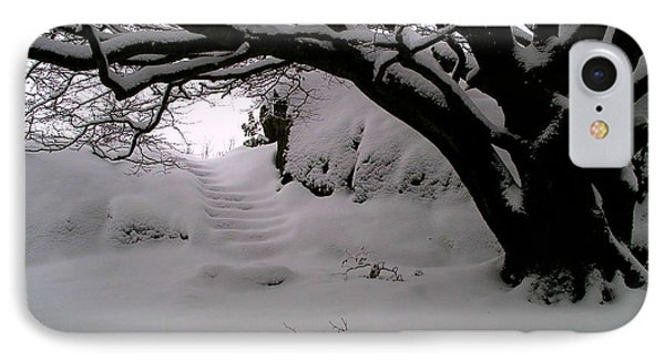 Snowy Path Phone Case by Amanda Moore
