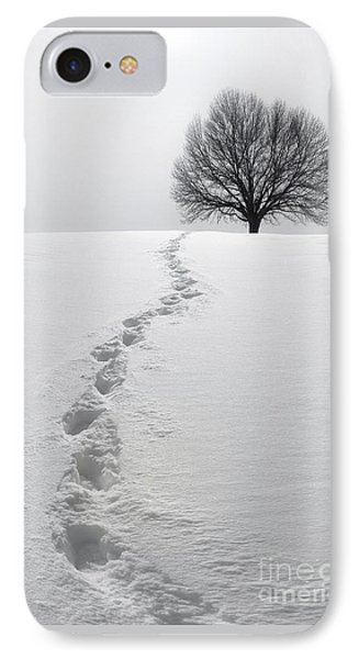 Snowy Path IPhone Case by Diane Diederich