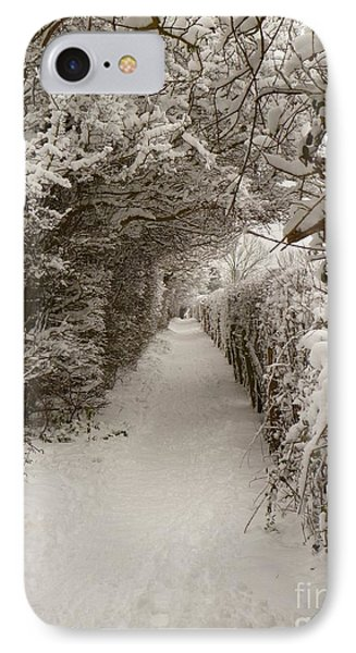 Snowy Path IPhone Case by Vicki Spindler