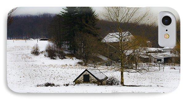 Snowy Pennsylvania Farm Phone Case by Bill Cannon