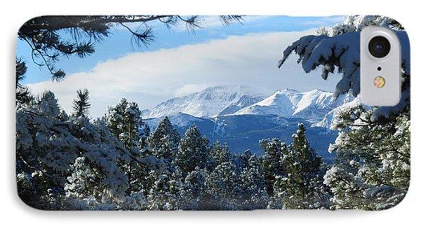 Snowy Pikes Peak IPhone Case