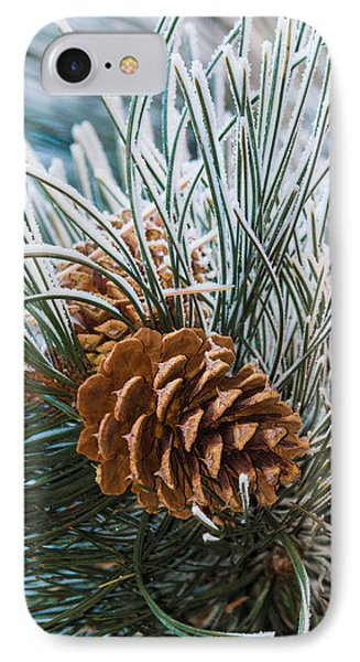 Snowy Pine Cones IPhone Case
