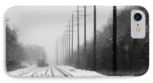 IPhone Case featuring the photograph Snowy Rails by Steven Macanka