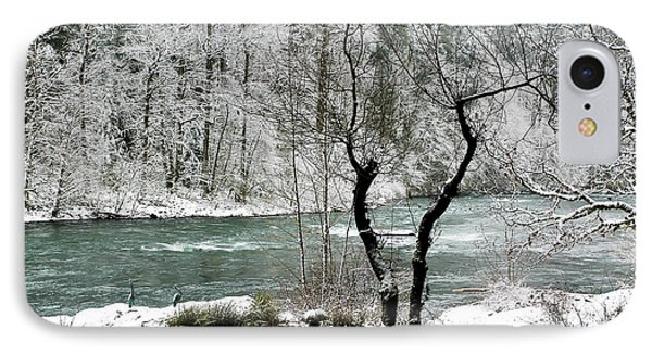 IPhone Case featuring the photograph Snowy River And Bank by Belinda Greb