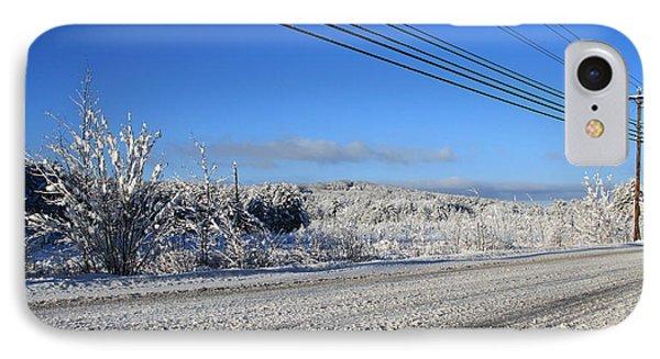 Snowy Roads Phone Case by Michael Mooney