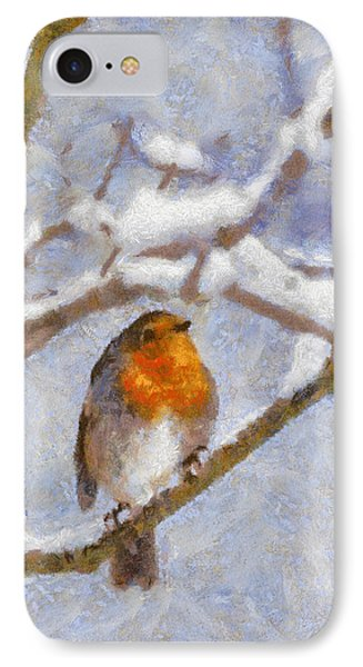 Snowy Robin IPhone Case
