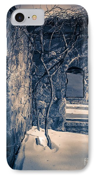 Snowy Ruins At Night IPhone Case by Edward Fielding