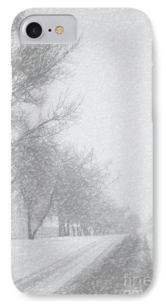 Snowy Rural Road IPhone Case by Birgit Tyrrell