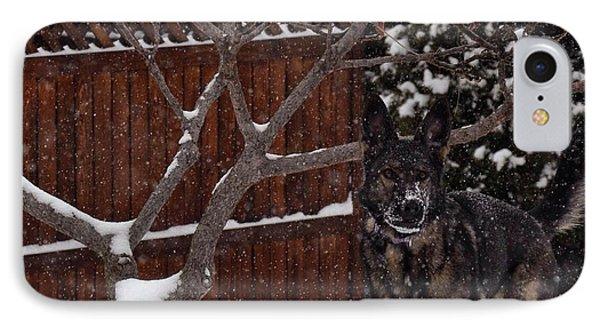 Snowy Shepherd IPhone Case by Nikki McInnes