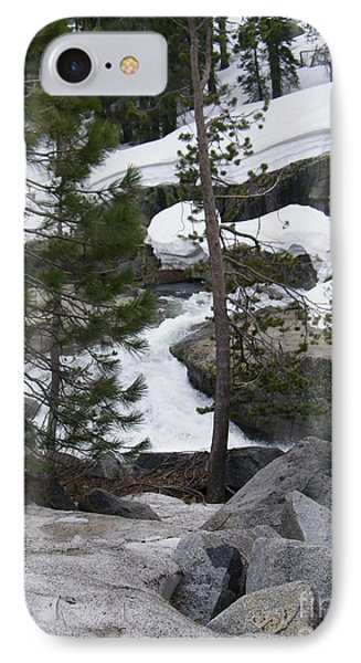IPhone Case featuring the photograph Snowy Sierras by Bobbee Rickard