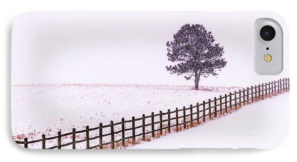 Snowy Solitude IPhone Case by Teri Virbickis