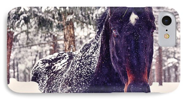 Snowy Spirit Phone Case by Teri Virbickis