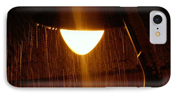 Snowy Street Lamp Phone Case by Ramona Matei