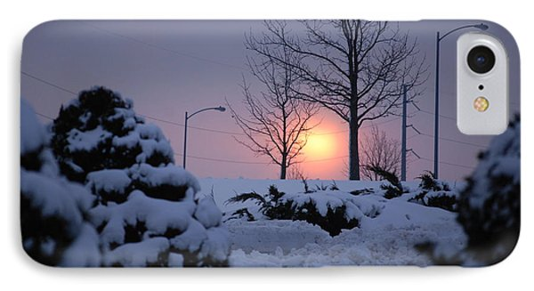 Snowy Sunrise IPhone Case