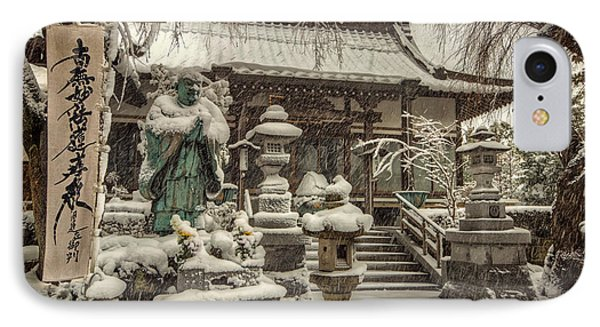 IPhone Case featuring the photograph Snowy Temple by John Swartz