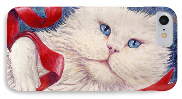 Snowy The Cat Phone Case by Linda Mears