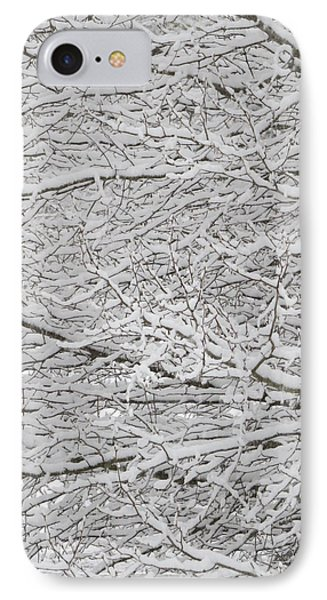 Snowy Tree Branches IPhone Case by Kathy Long