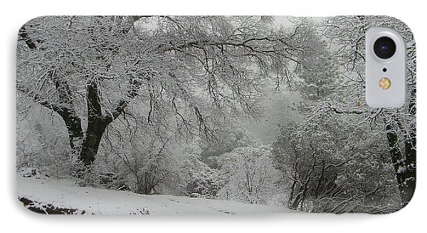 Snowy Trees IPhone Case by Tom Mansfield